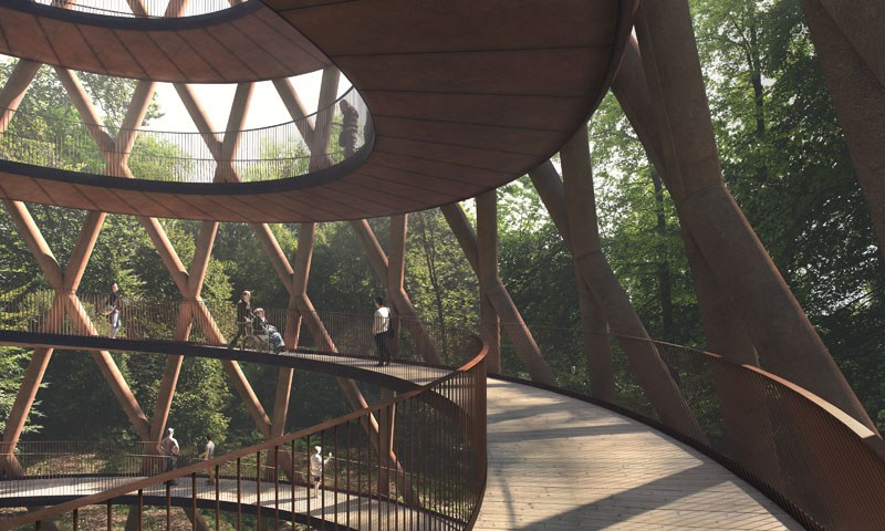 Impressive New Observation Tower in Camp Adventure in Danemark