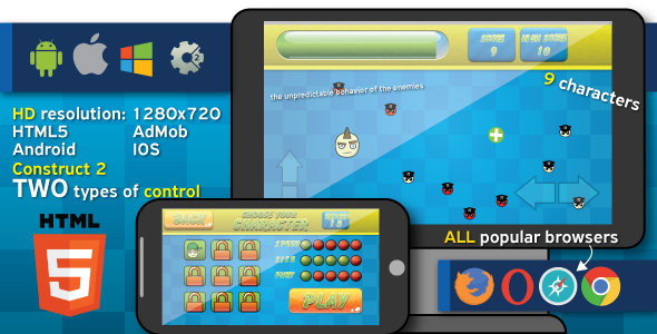 Remember where - HTML5 game + Android. (Construct2, capx) + ADS