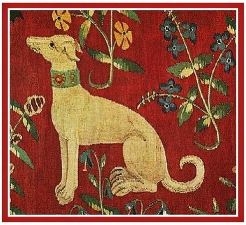 z9 companion dog in the tapestry series The Lady and the Unicorn..jpg