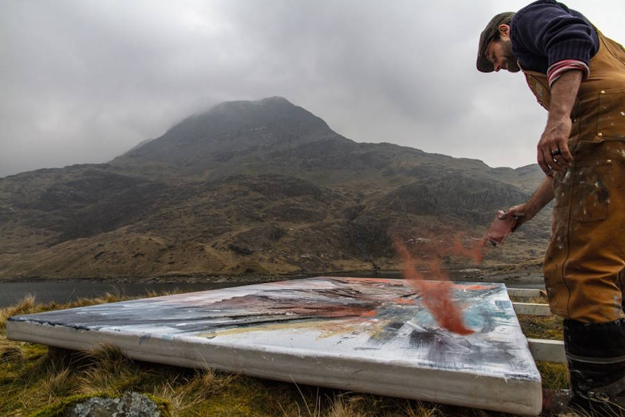 Beautiful Paintings Inserted in Natural Landscapes