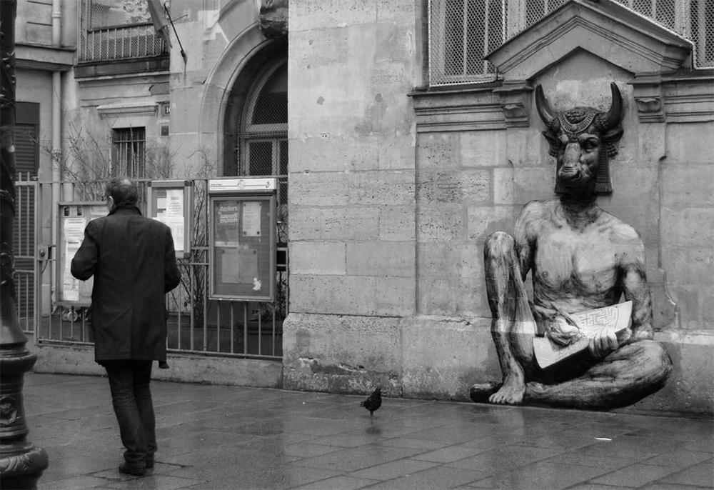 Artista frances 'Levalet' injeta humor em Paris com sua arte de rua!