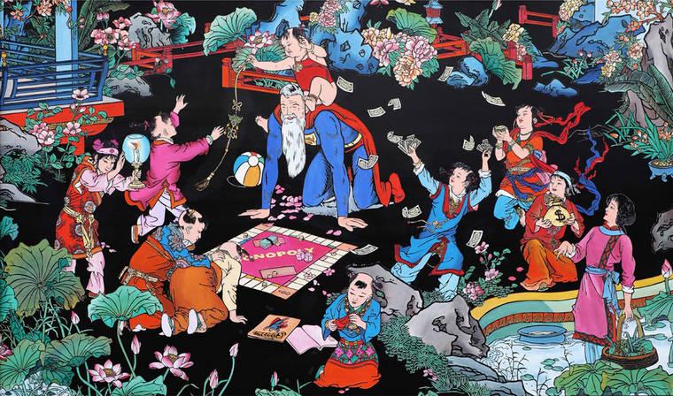 Quand les super-heros debarquent dans les gravures traditionnelles chinoises