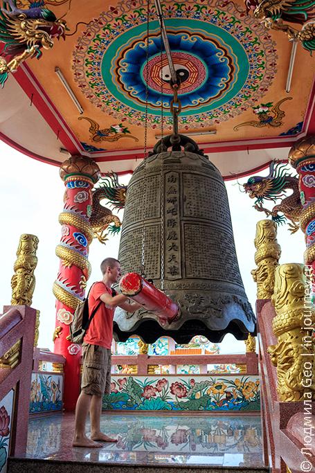 колокол в храме Анг Сила