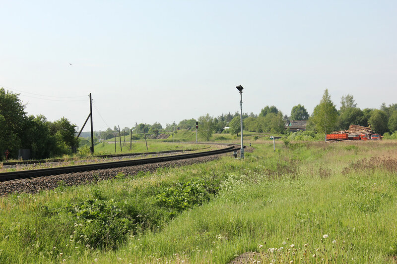 Вяземская горловина станции Сычёвка, вид на Вязьму
