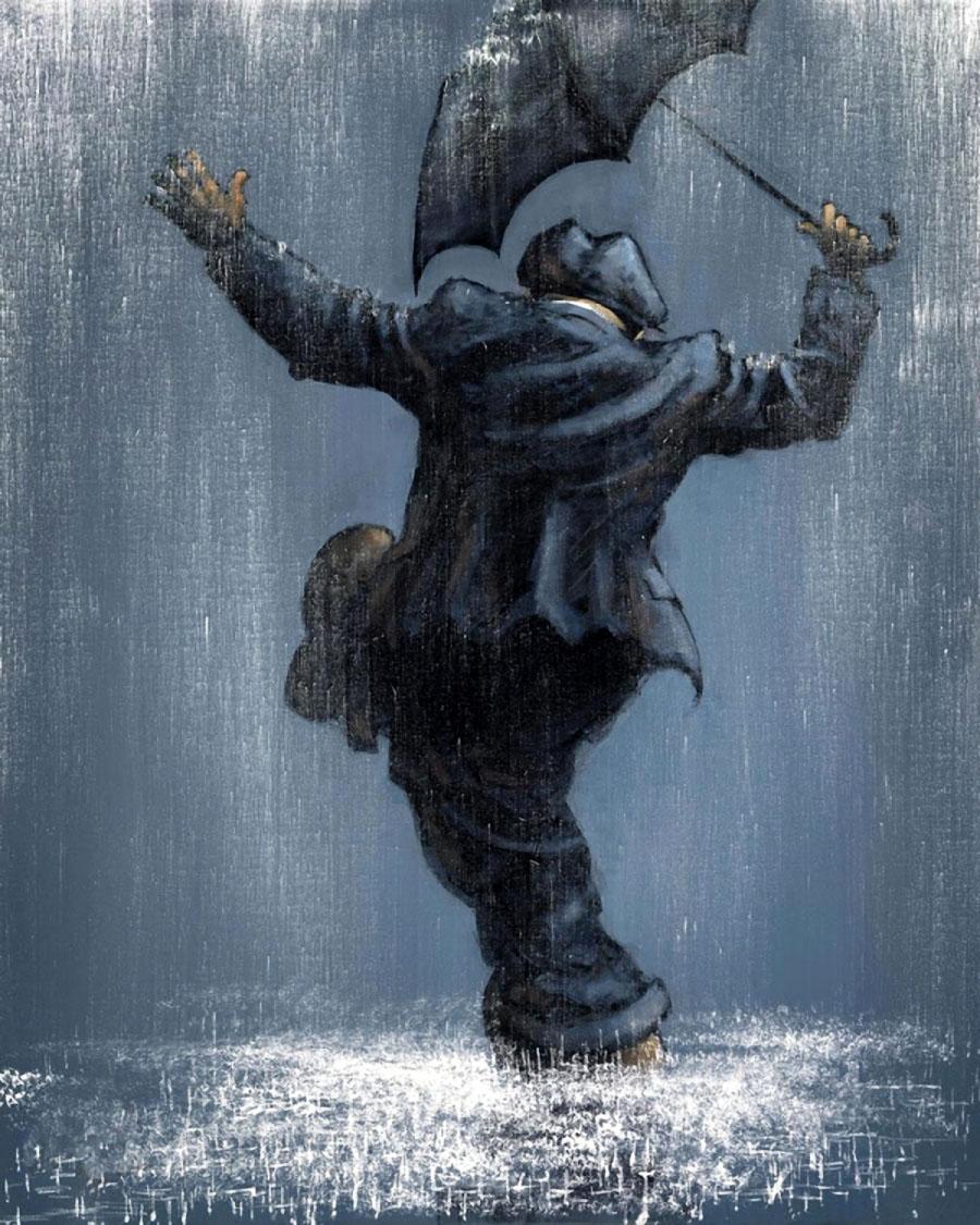 символьная схема поцелуй под дождем