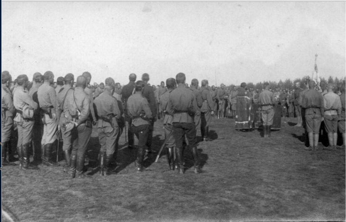1915. Церковная служба в полевых условиях