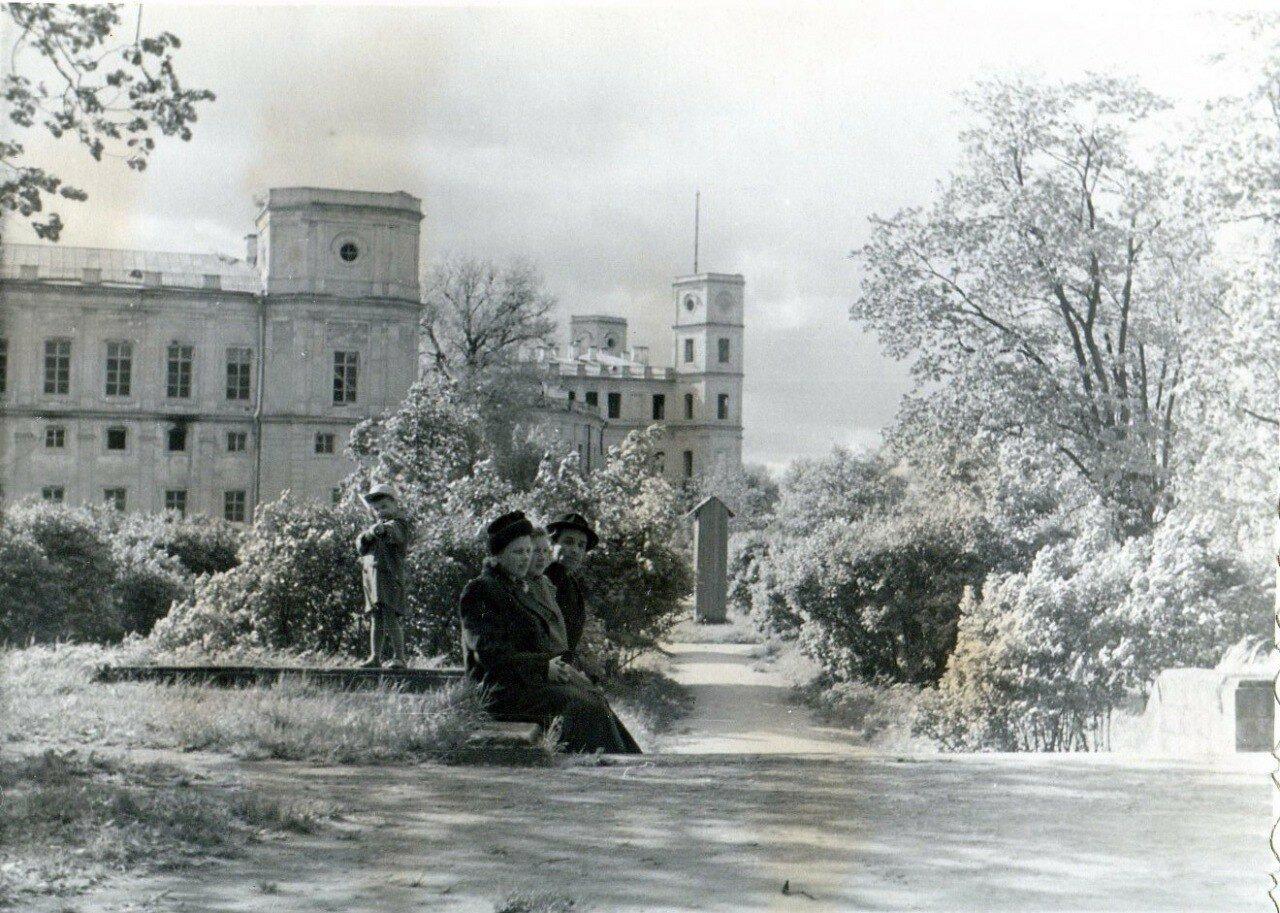 1954. На ступенях Голландского сада в Гатчинском парке