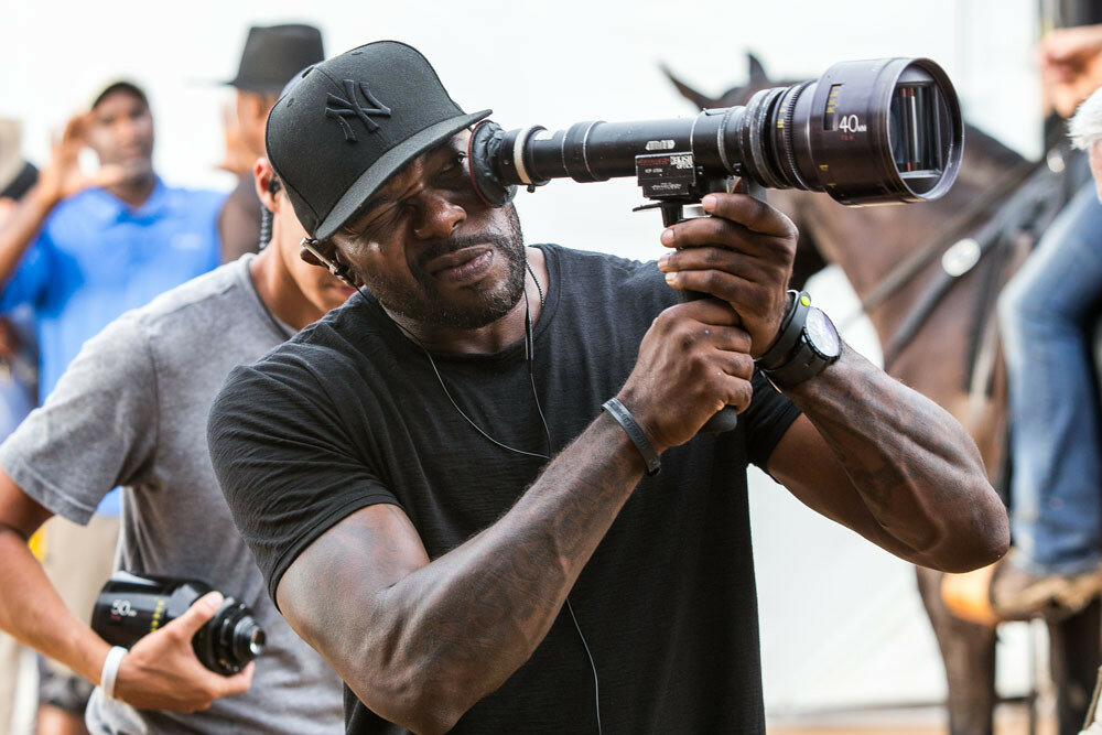 Director Antoine Fuqua on the set of Metro-Goldwyn-Mayer Pictures and Columbia Pictures' THE MAGNIFICENT SEVEN.