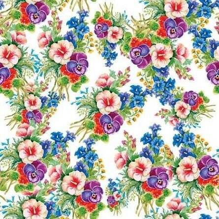 Seamless patterns with Beautiful flowers, watercolor illustration