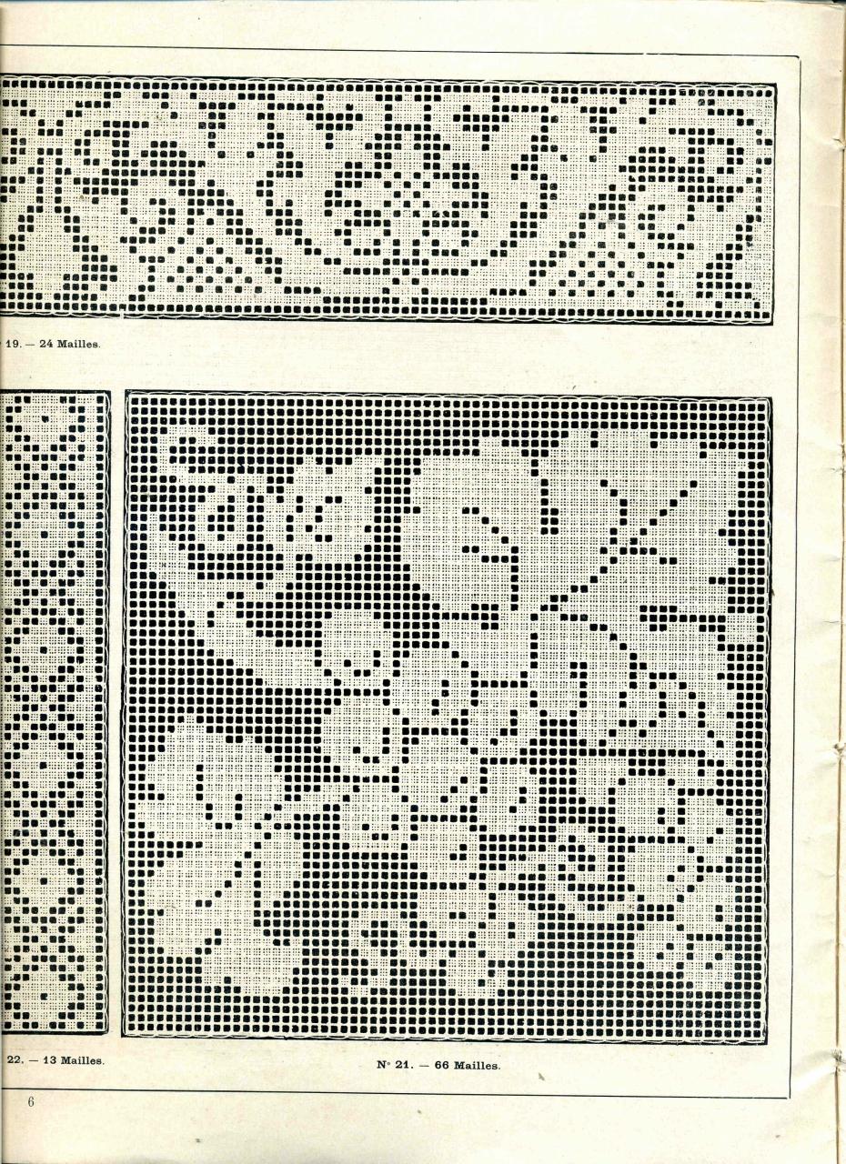 Схемы филейного вязание крючком 80