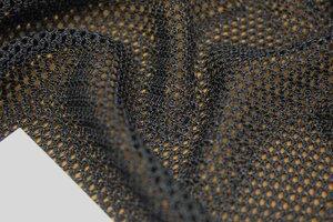 ТР151 550руб-м Сетка MAX MARA цвет черный (пэ 100%),сетка мягкая,ячейка 3мм,приятная на ощупь,пластичная,тяжеленькая,прозрачная,для кофт,кардиганов,отделки,ширина 1,30м (2).JPG