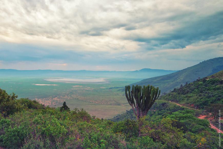 17. Типичный пейзаж внутри кратера.