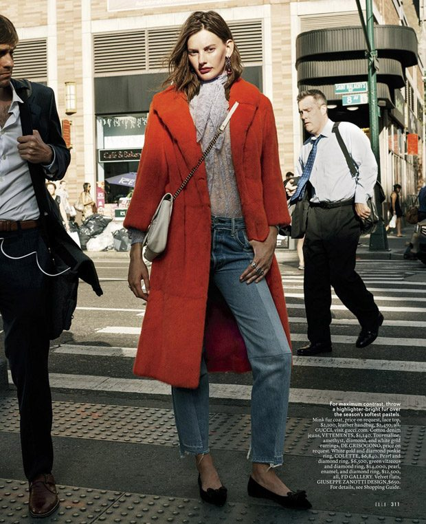 Amanda Murphy Models FW16 Key Looks for Elle US October 2016 Issue