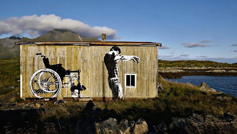 Uncluttered and Realistic Norwegian Street Art
