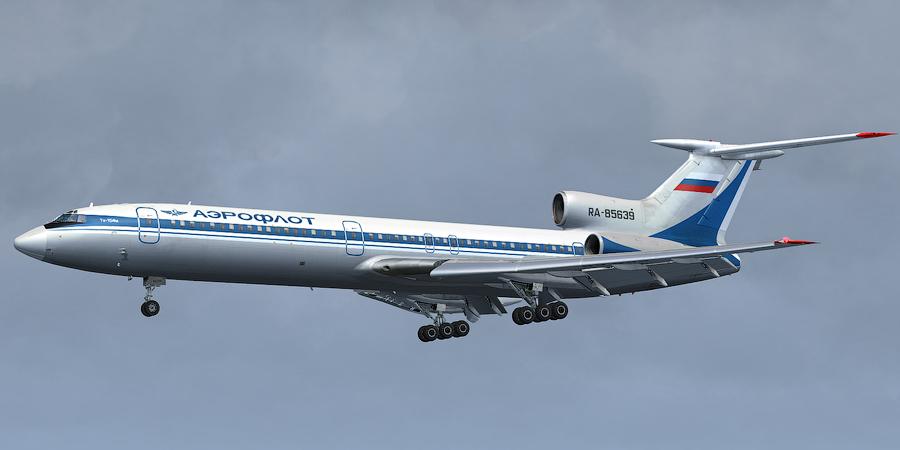 Раскраска самолета ту 154
