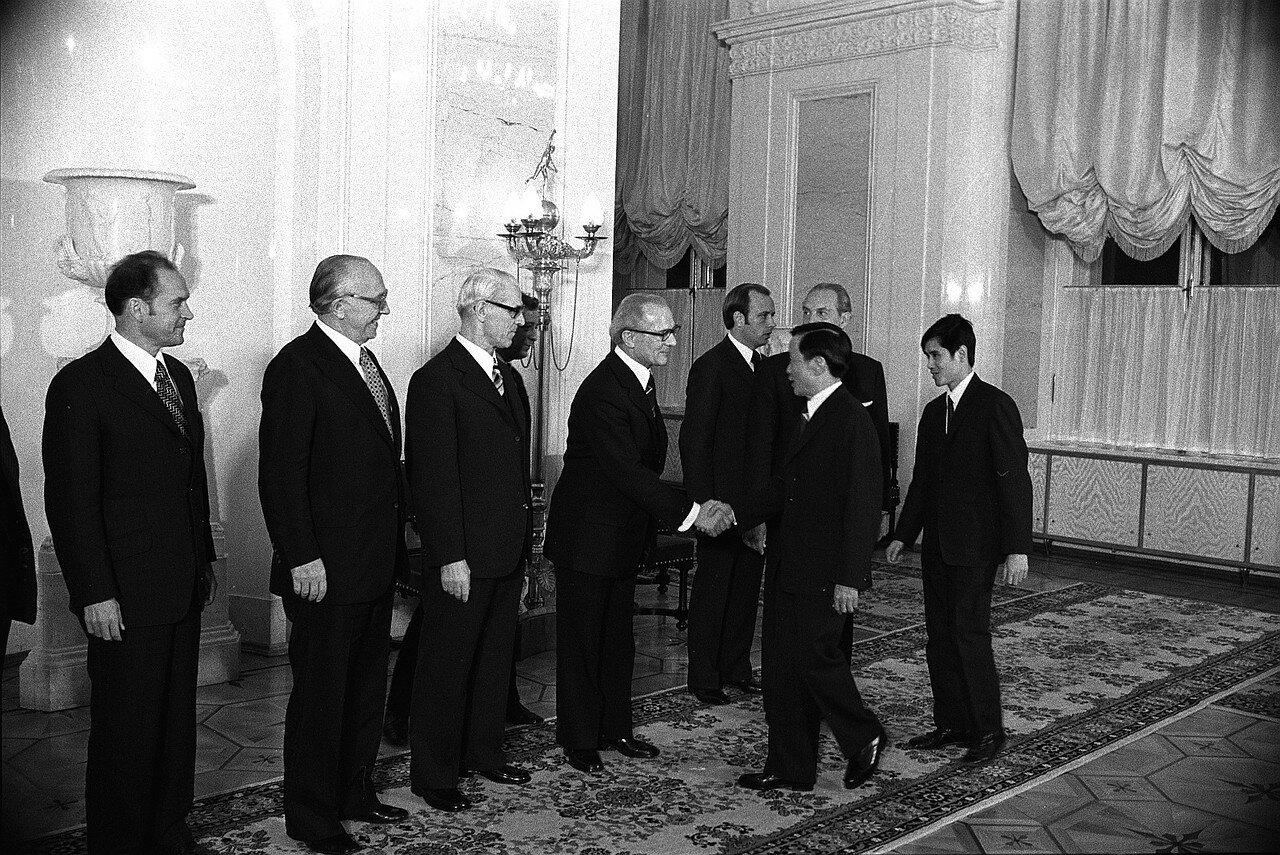 Прием делегаций из разных стран в Кремле