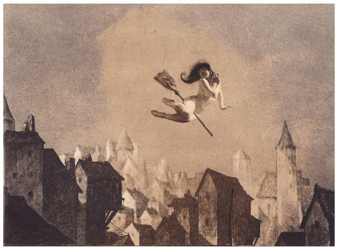 1926. «Иллюстрированный компендиум колдовства». Возвращение с шабаша