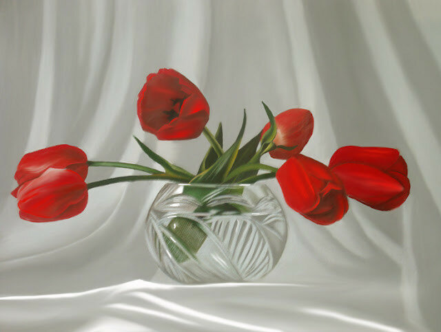 Red Dreams - Brita Seifert 1963 - Dutch Surrealist painter
