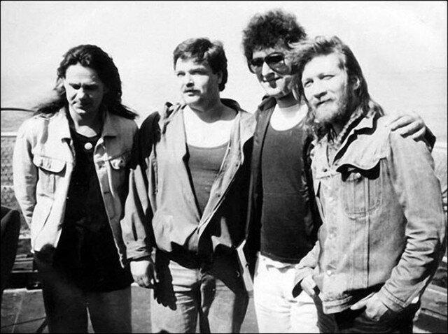 Неизвестные фото российских рок музыкантов