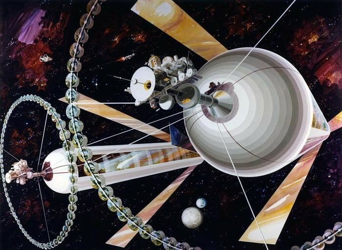 Представление о космических станциях будущего в 1970 х годах
