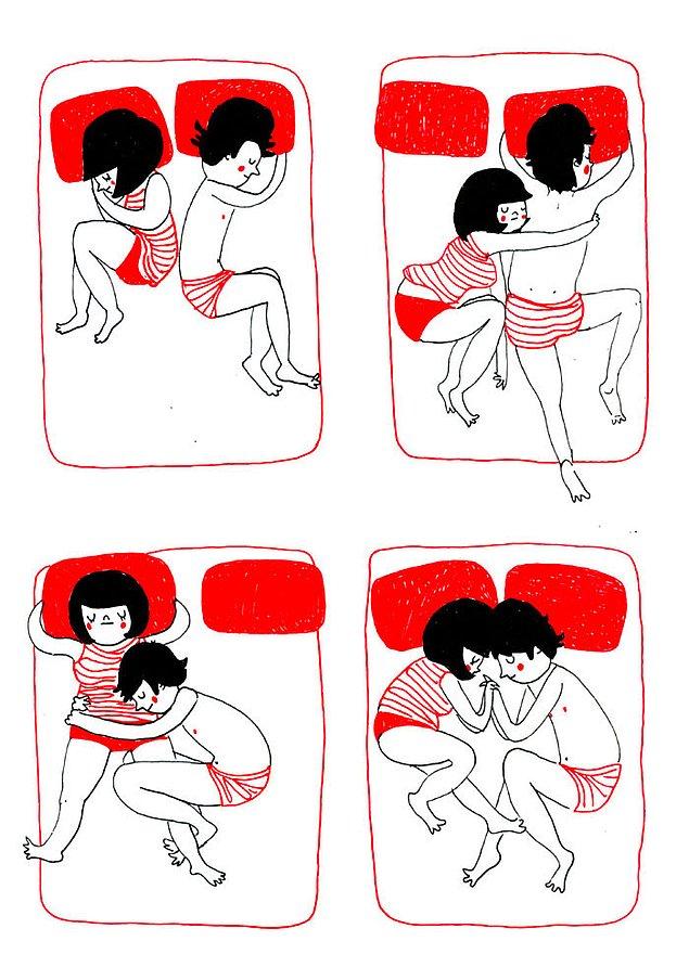 Любовь - это бессознательное желание обнять его во время сна