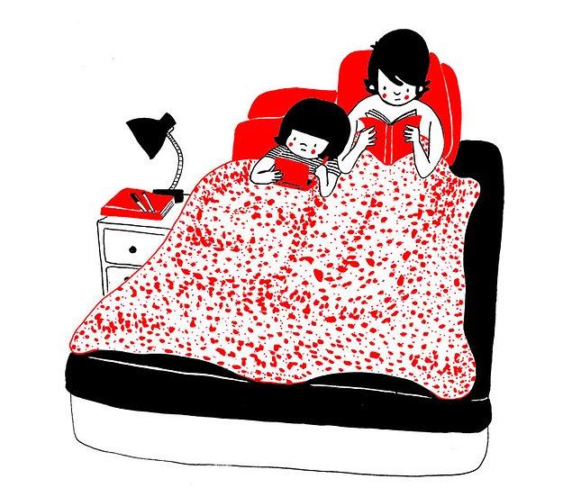Любовь - это читать две разные книги, лежа в одной кровати