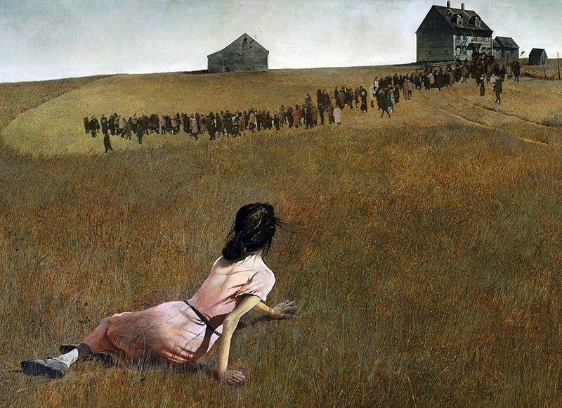 Эндрю Уайет, «Мир Кристины в очереди на Серова», 1948