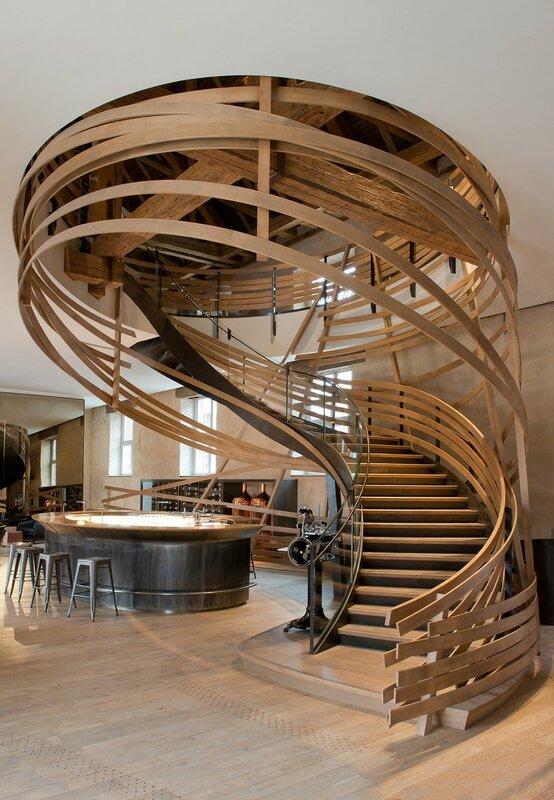 Лестница для дома на второй этаж дизайн фото 24
