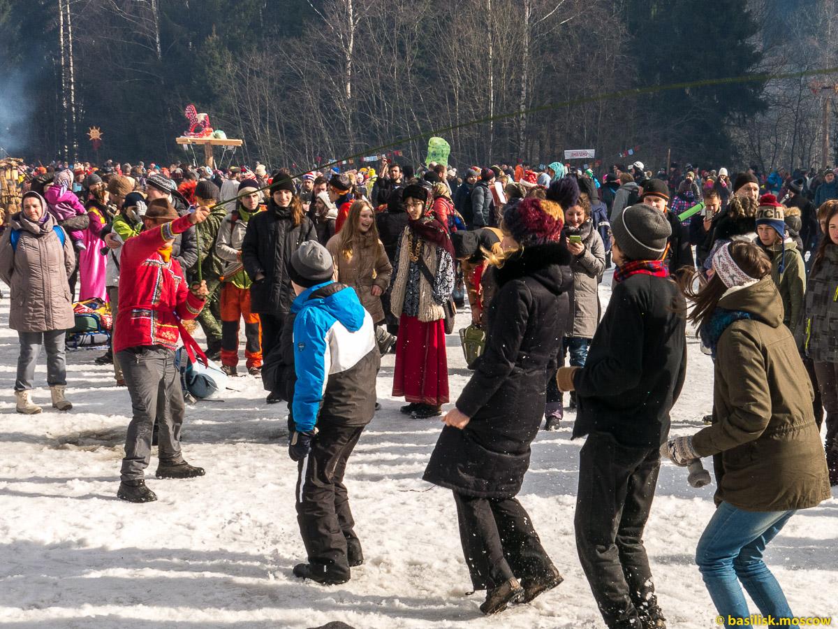 Бакшевская масленица. Гуляния на масленичной поляне. 13 марта 2016