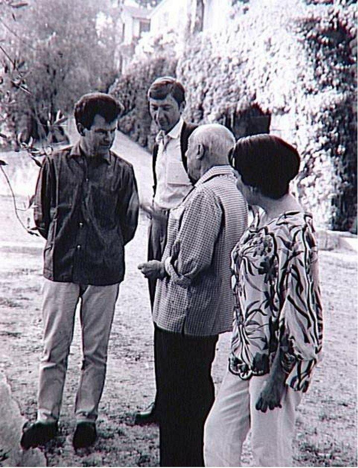 1966. Жан Леймари, Альдо Кроммелинк, Пикассо и Жаклин