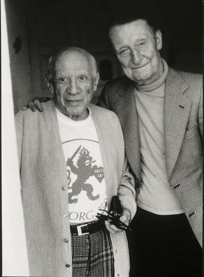 1966. Пикассо и Альберт Скира