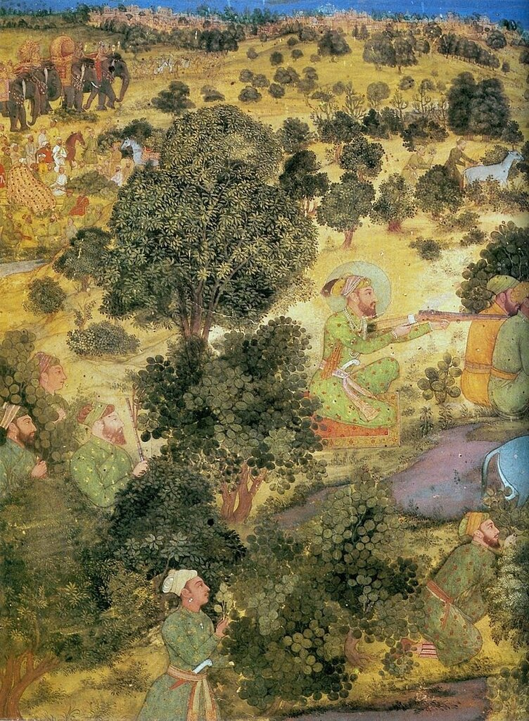 800px-Hashim_(attributed),_Aurangzeb_Hunts_Nilgais,_(detail)_ca__1660,_Chester_Beatty_Library,_Dublin.jpg
