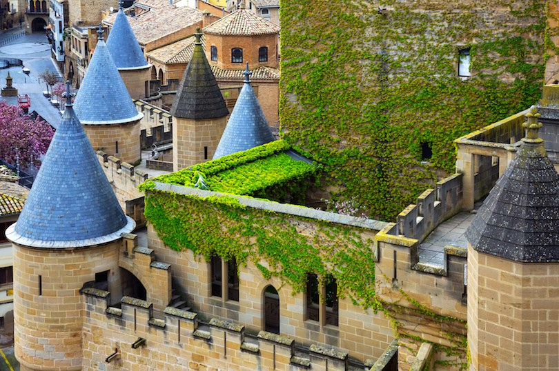 Towers of old castle. Olite