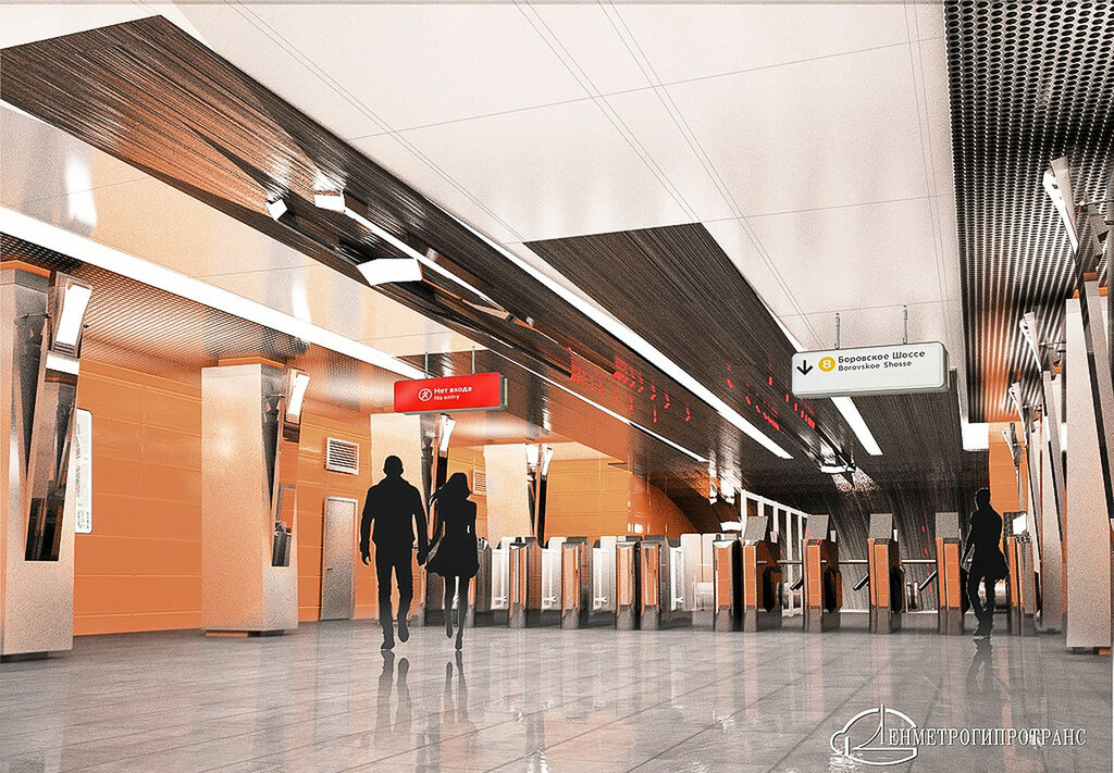 Визуализация вестибюля станции, Ленметрогипротранс
