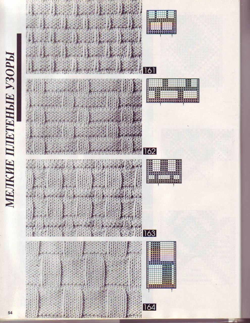 Планета Вязания Вязание спицами: клетка, ромбы, плетенка 97