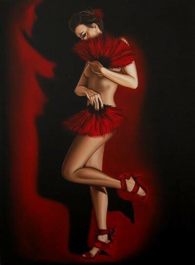 Женщина в красном, ты вызов мужчинам! Drew Darcy