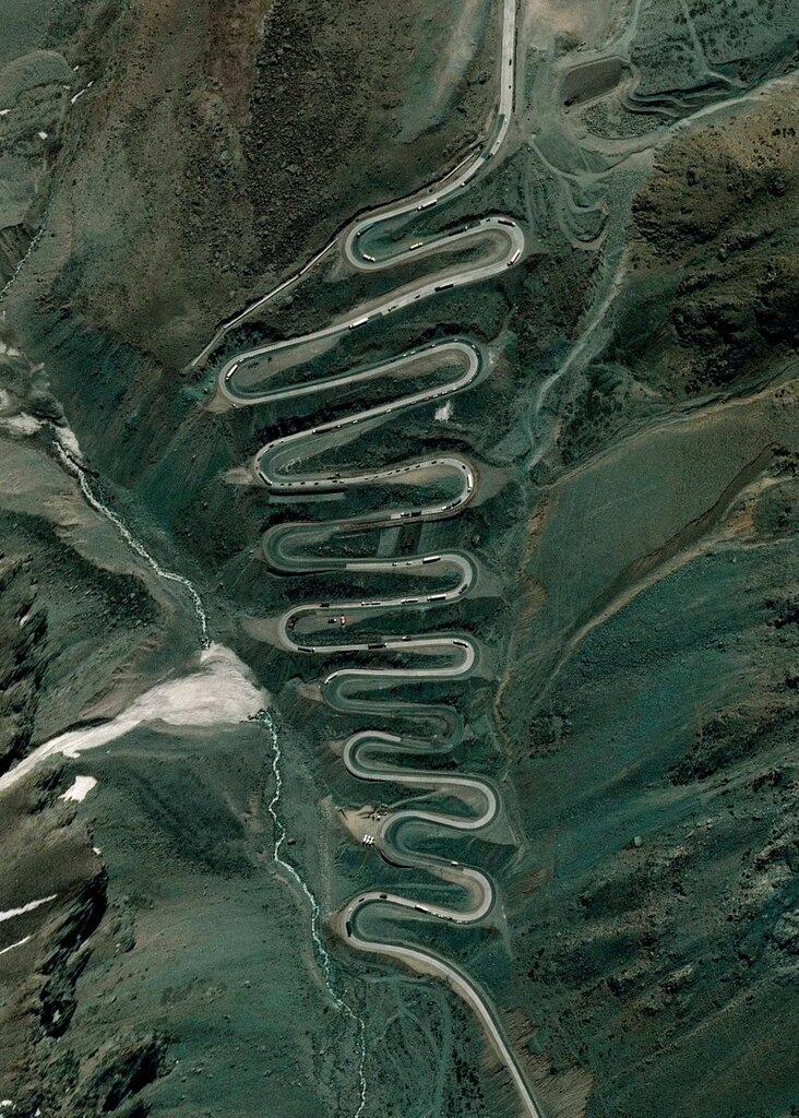 Горная дорога в Андах