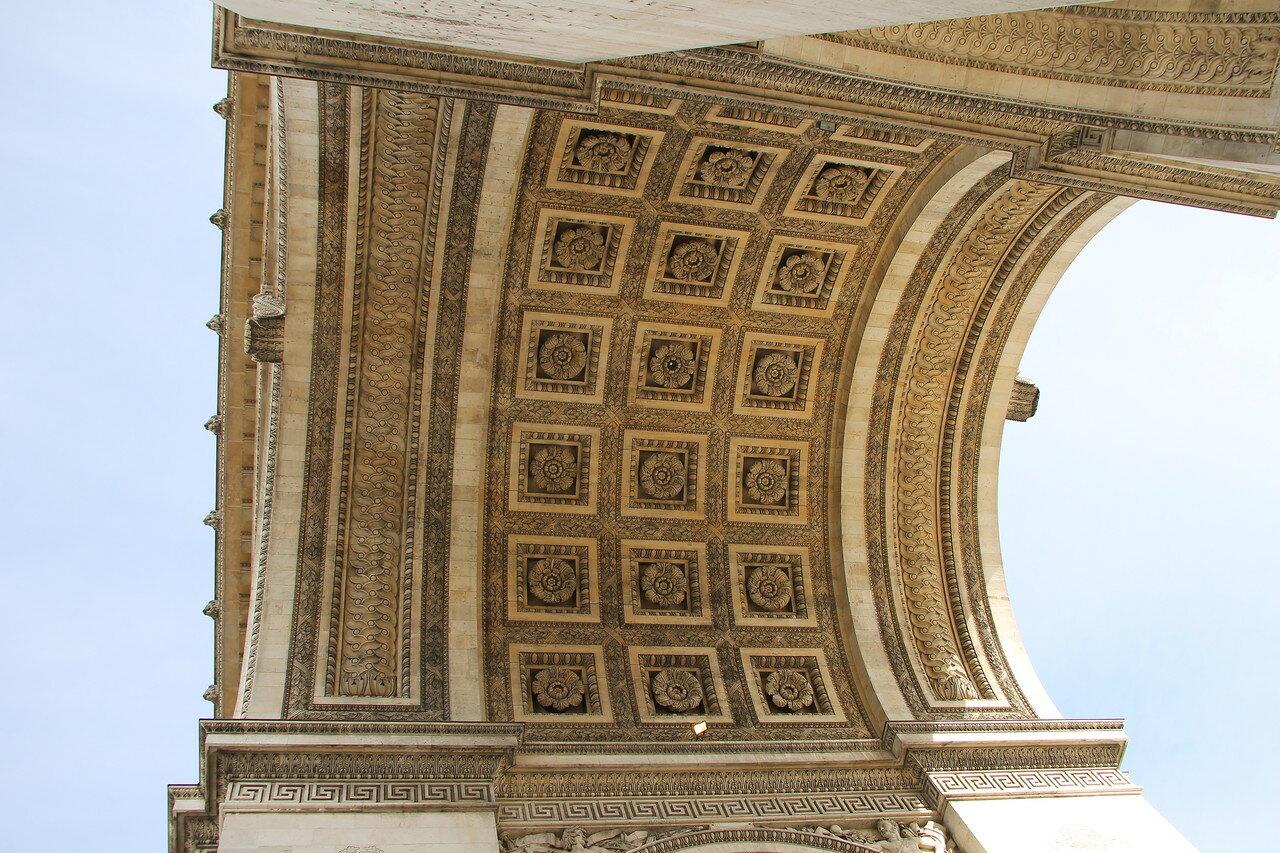Париж. Триумфальная арка (Arc de triomphe de l'Étoile)