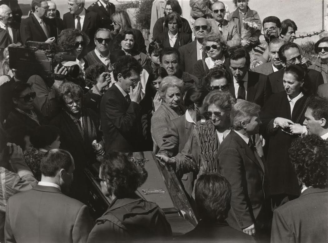 Похороны режиссера Федерико Феллини в 1993 году.