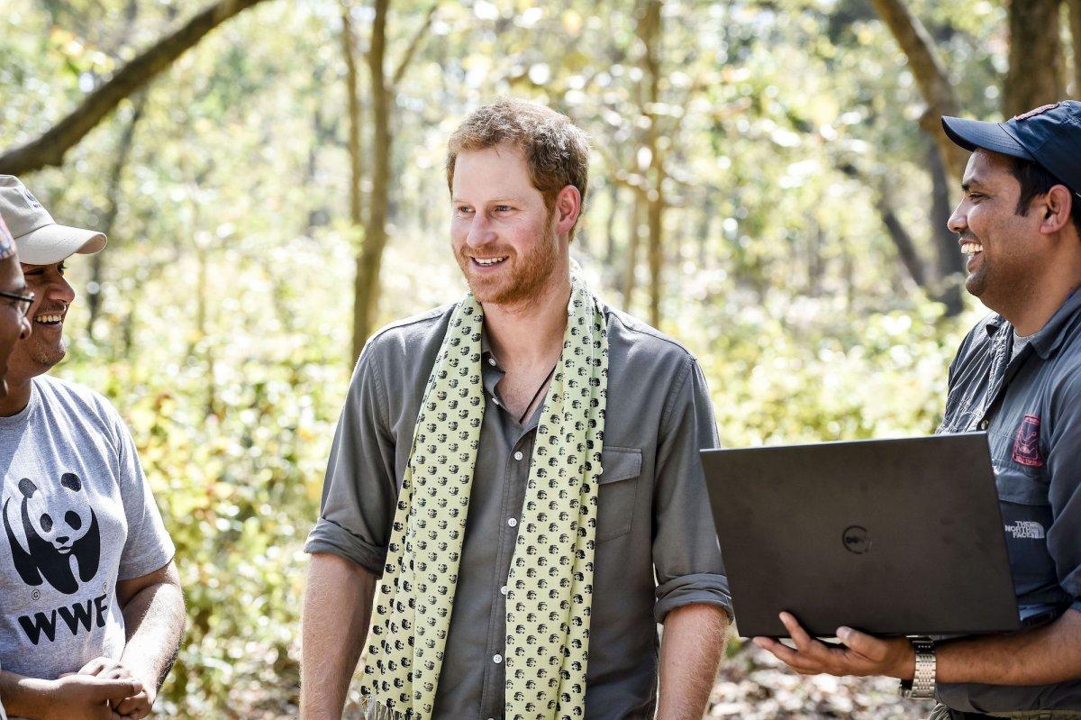 Его внуки, принцы Гарри и Уильям, также помогают Всемирному фонду дикой природы.