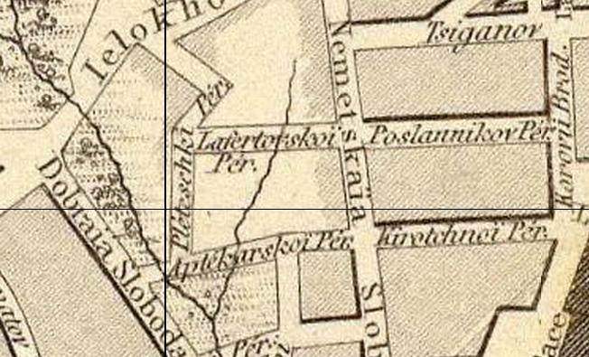 РЕКА ЧЕЧЁРА И РУЧЕЙ КУКУЙ НА КАРТЕ 1836 ГОДА