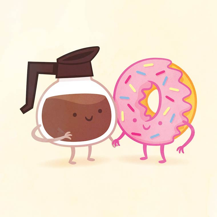 Best Friends - The appetizing culinary illustrations by Philip Tseng