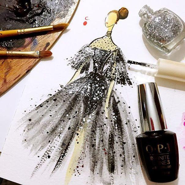 Artista cria pinturas incriveis com esmalte