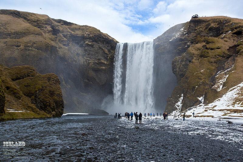 Водопад Скоугафосс (Skógafoss)