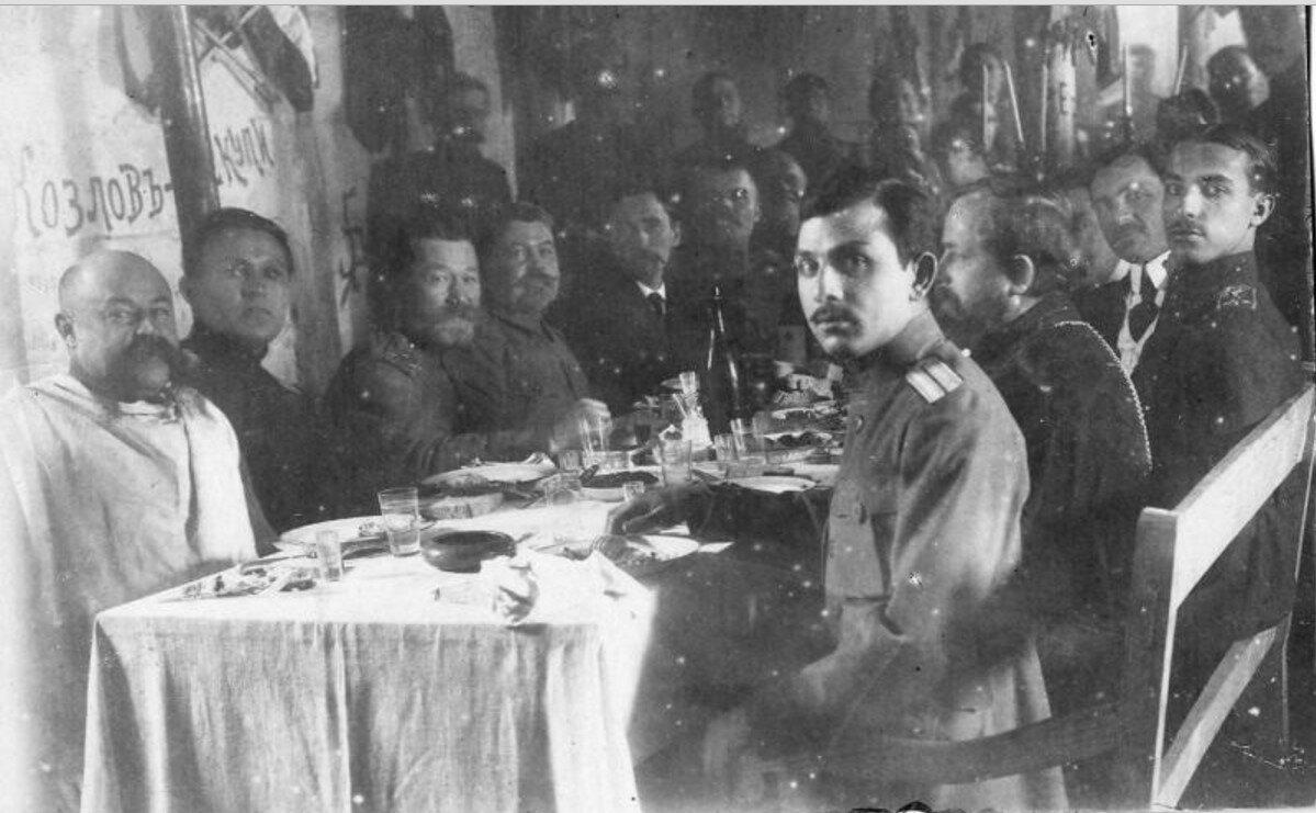 1916. 267-й пехотный Духовщинский полк. Встреча гостей