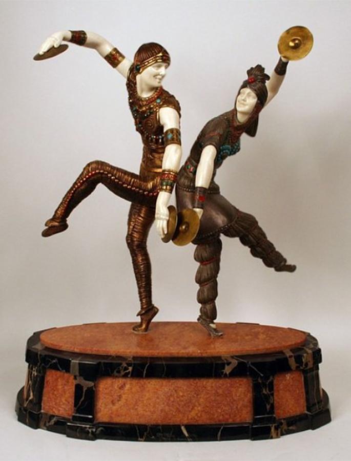 """Статуэтка """"Русские танцовщики"""".  1930-е,  Чипарус Дмитрий (1886-1947)(2)"""