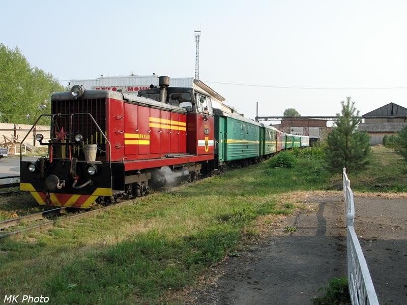 Поезд выходит из депо