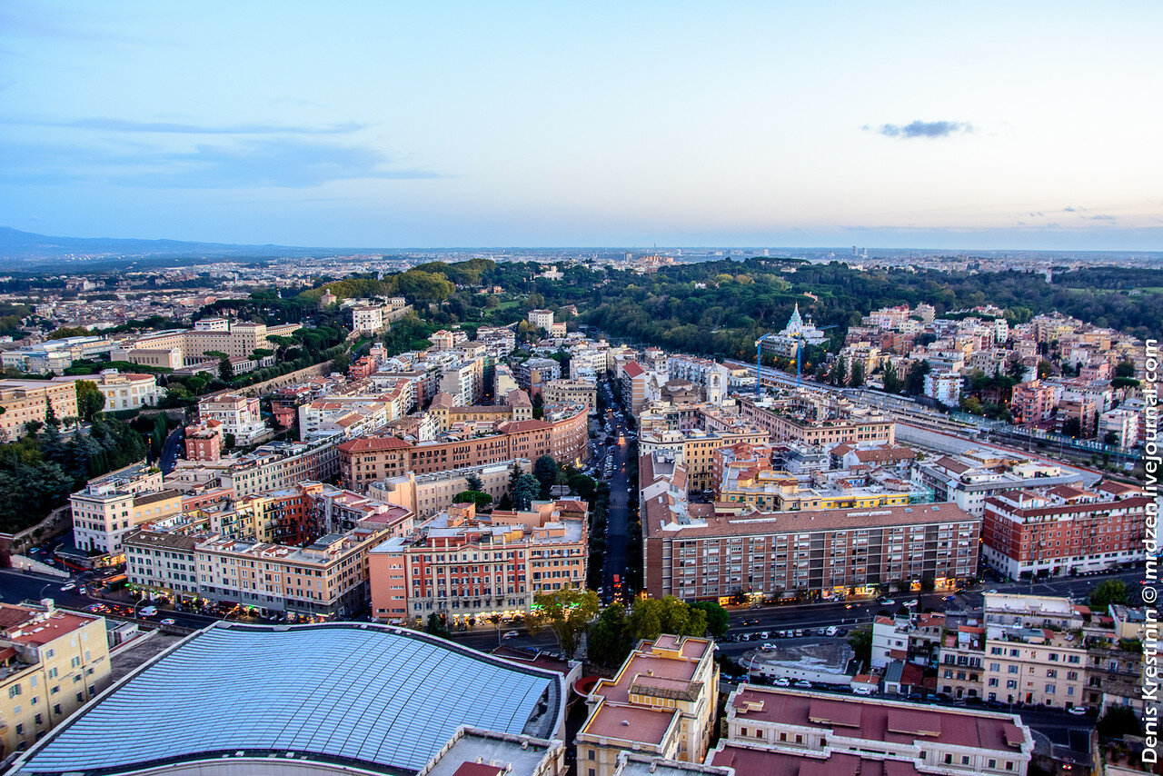 Ватикан. Вид с собора Святого Петра