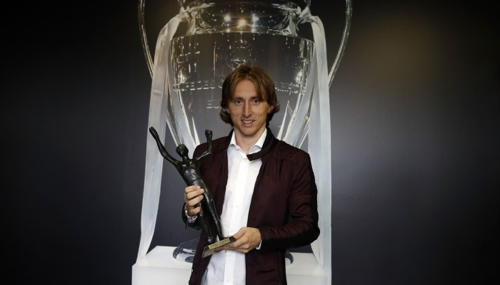 Модрич в 5-й раз  признан футболистом года вХорватии