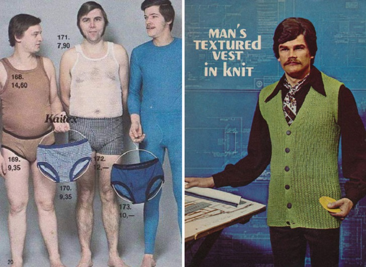 Яркий цвет, неприличный крой, дерзкая клетка и немыслимый клеш: мужская мода 70-х